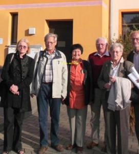 Die Delegation aus Jena und ihre Gastgeber aus Erlangen vor dem August-Bebel-Haus der Erlanger SPD